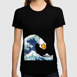 gudetama's great wave T-shirt