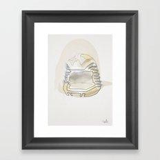 One line Battlestar Galactica Viper Helmet Framed Art Print
