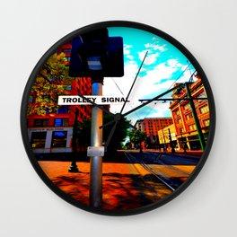 Main Street Trolley Wall Clock