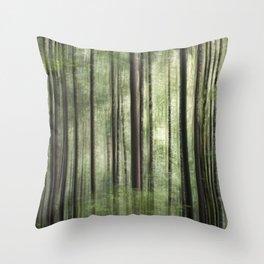 Deep Dark Woods Throw Pillow
