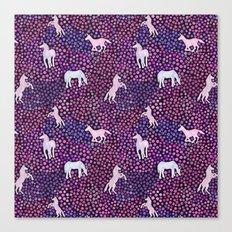 The White Unicorns Canvas Print