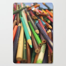 Colored Pencils Cutting Board