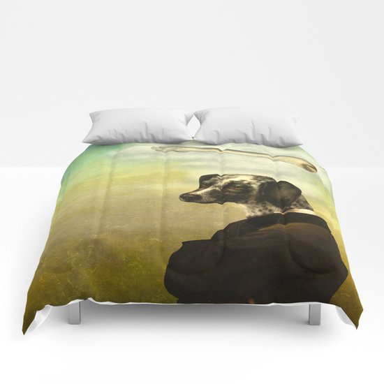 A Dog's Dream Comforters