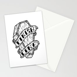 Finish Line. Stationery Cards