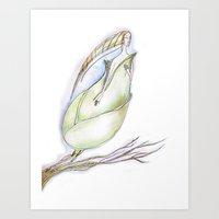 Elf-spring-love-green Art Print