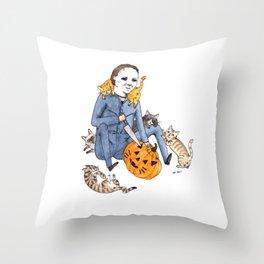 Meowlloween Throw Pillow