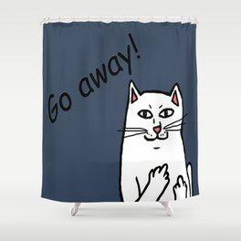 Naughty Cat Shower Curtain
