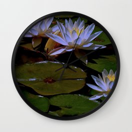 Luminous Water Lilies Wall Clock