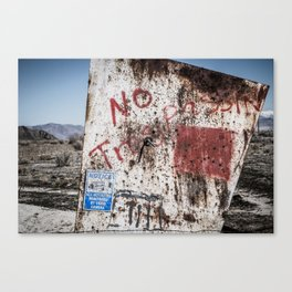 No Trespassin' in the Desert Canvas Print