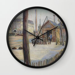 Railway Junction near Bois-Colombes Wall Clock