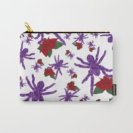 Poinsettia Spiders White Carry-All Pouch