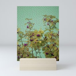 Rowan tree and purple polka dots Mini Art Print