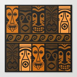 Sunset Orange Tikis! Canvas Print