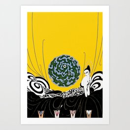 "Art Deco Design ""Selection of the Heart"" Art Print"