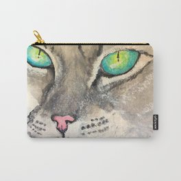 Turquoise Eyes Carry-All Pouch