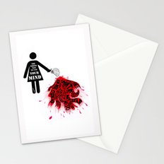 The wrong way to use your mind Stationery Cards