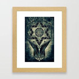 Sacred Geometry for your daily life- SRI YANTRA Framed Art Print