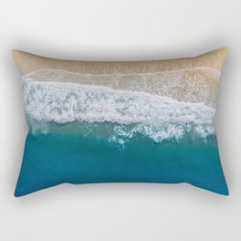 Water on the Beach (Color) Rectangular Pillow