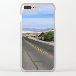 Long Desert Road Clear iPhone Case