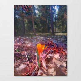 Mandalic Spring Flower Canvas Print