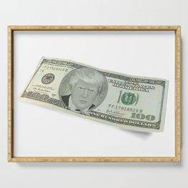 Donald Trump on a One Hundred Dollar Bill Serving Tray
