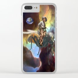Space Cowboy Clear iPhone Case