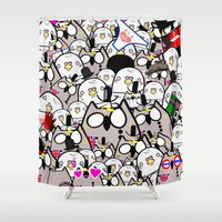 rush Shower Curtains featuring Bird Rush by lovethebritz