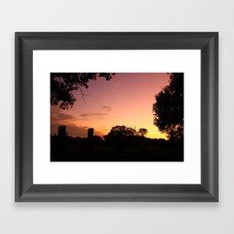 country sunset Framed Art Print