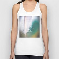 feather Tank Tops featuring Feather by Dora Birgis