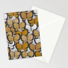 Golden butterflies Stationery Cards