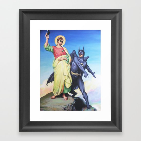Temptation of Robin Framed Art Print