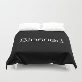BLESSED Black & White Duvet Cover