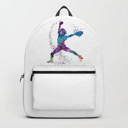 Girl Baseball Softball Pitcher Backpack