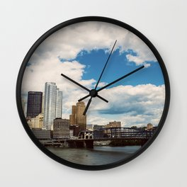 Hearts Over Pittsburgh Wall Clock
