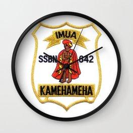 USS KAMEHAMEHA (SSBN-642) PATCH Wall Clock