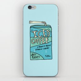 Iced Coffee Juicebox iPhone Skin