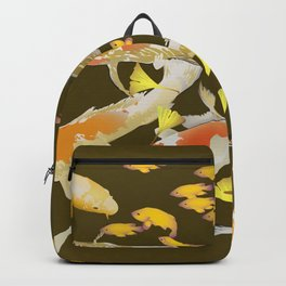 Fall Koi and Golden Ginkgo Leaves Backpack