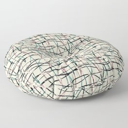 Abstract pattern. Thin vertical, horizontal lines. Floor Pillow