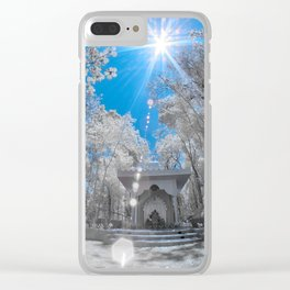 Indian Temple Clear iPhone Case