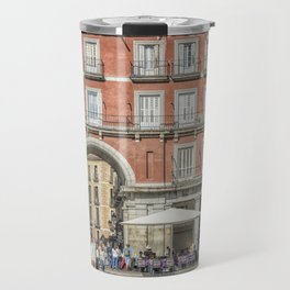 Relaxing cup in Plaza Mayor, Madrid Travel Mug