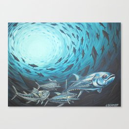 Bluefin School Canvas Print