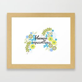 Blooming marvellous Framed Art Print