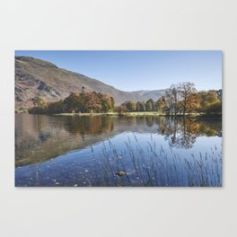 Reflections and autumnal colour. Ullswater, Cumbria, UK. Canvas Print
