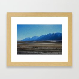Draining Jackson Lake Framed Art Print