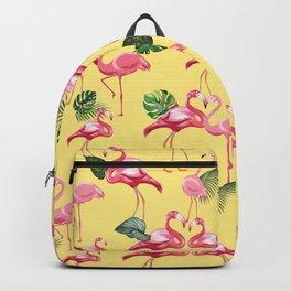 Flamingos Love Pattern 10 Backpack