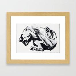 Husky Side UP Framed Art Print