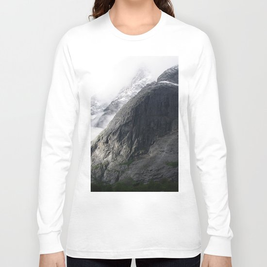 Mountain landscape #norway Long Sleeve T-shirt