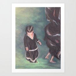 Little Rajasthan Dancer Art Print