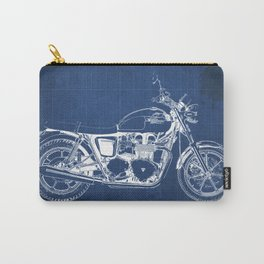 2010 Triumph Bonneville SE, motorcycle blueprint, husbands gift, offer, original poster, fathers day Carry-All Pouch