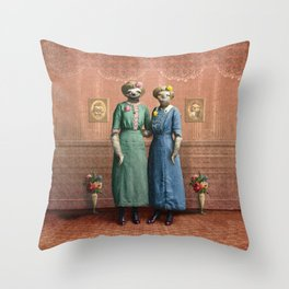 The Sloth Sisters at Home Throw Pillow